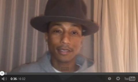Pharrell's Inspiring Message To A Kid With Cancer