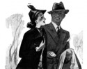 couple vintage drawing