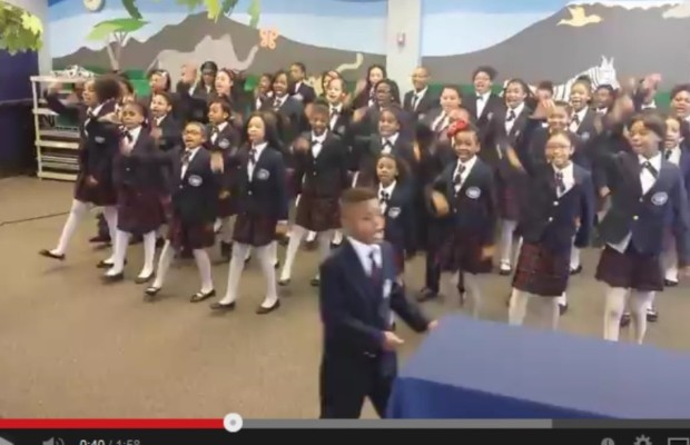 "Kids' choir covers Pharrell Williams' ""Happy"""