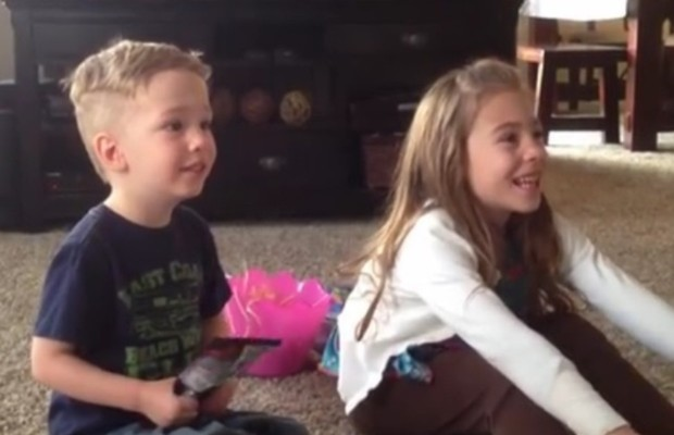 Priceless reaction to new baby news!